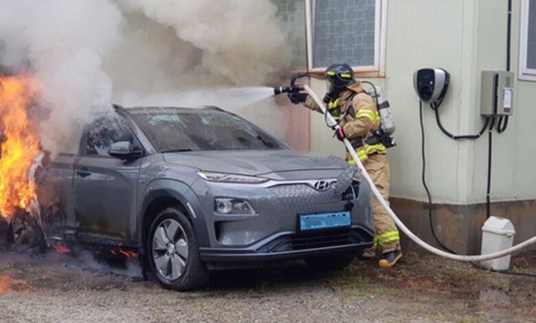 Hyundai fire 780x470 - حذف هیوندای کنا الکتریکی از بازار کره پس از آتشسوزیها