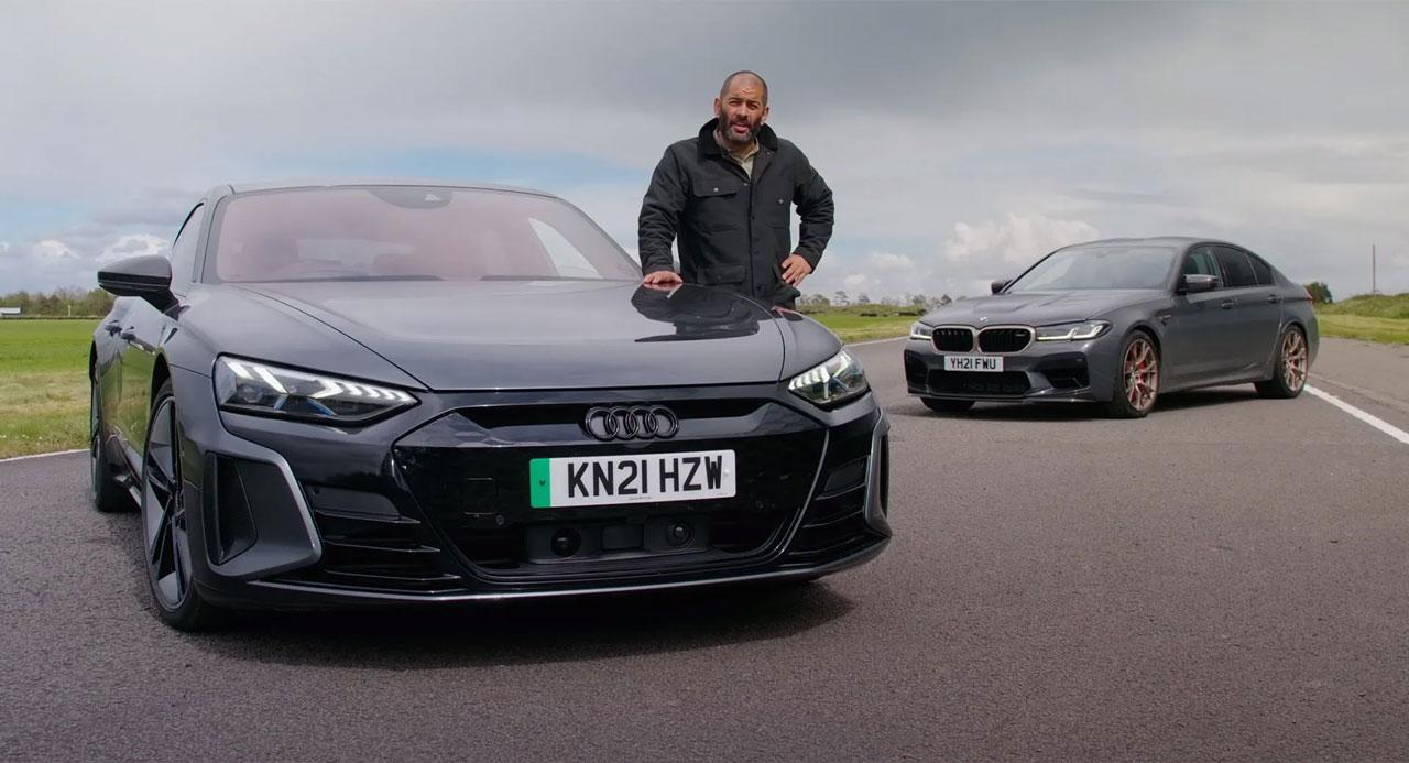 Audi RS e tron GT vs BMW M5 CS - آیا آئودی ای-ترون GT RS رقیبی برای بامو M5 CS میشود؟