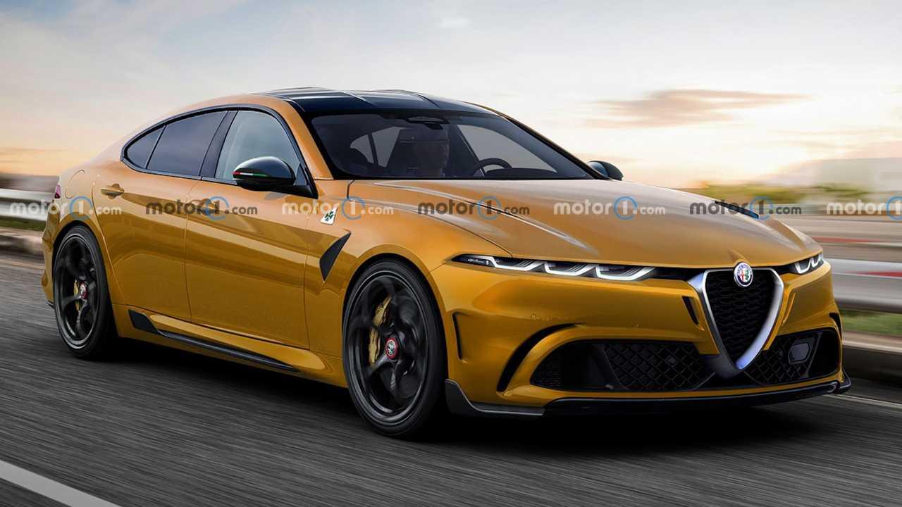 alfa romeo sedan rendering - احتمال بازگشت آلفارومئو GTV برای رقابت با بامو i4